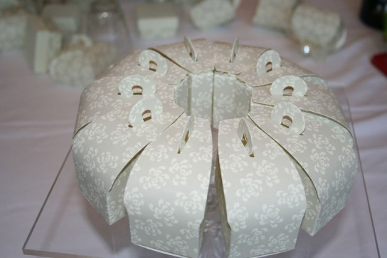 Wedding cake box circle